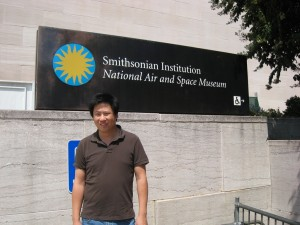 Tony at Smithsonian National Air and Space Museum