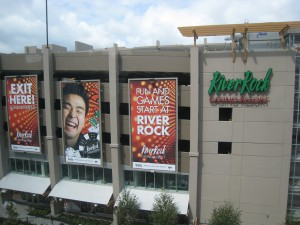 River Rock Casino advertisement for riders!