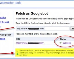 Another New Feature in Google Webmaster Tools