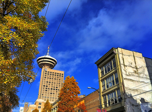 Vancouver Harbour Centre in the Fall
