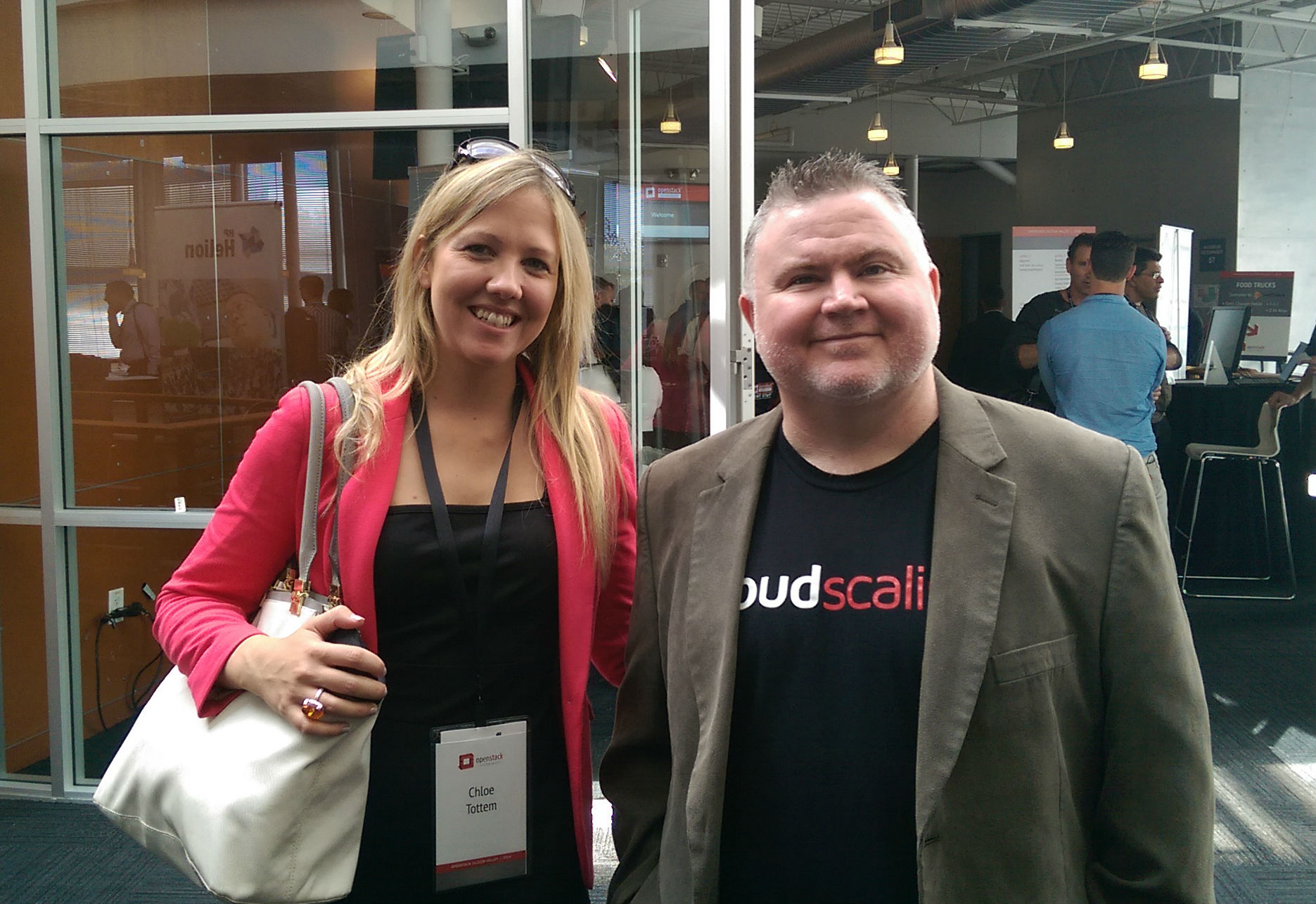 AURO's Regional Sales Director Chloe Tottem with CEO and Founder of ...