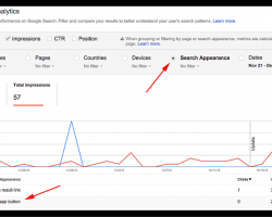 "Google's Search Appearance report shows ""Install App"" views and clicks"