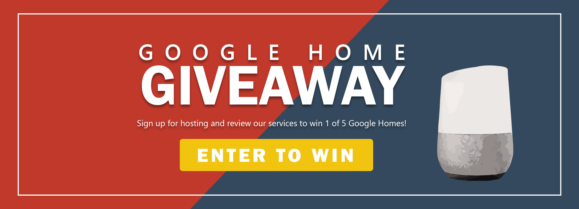 google home giveaway canadian web hosting blog website mock screen template 04 banner