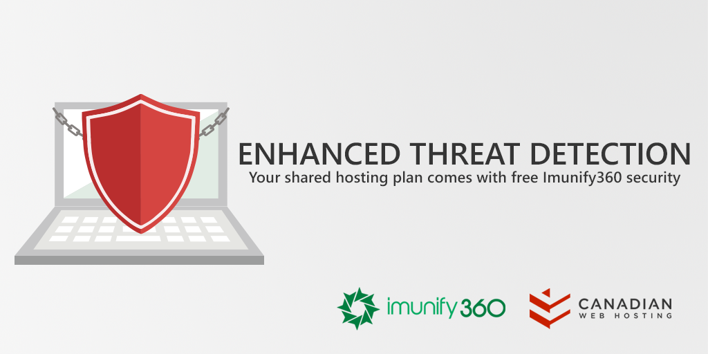Secure protection by Imunify360 for Canadian Web Hosting