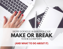How Google Rankings Can Either Make or Break Your Company (And What to Do About It)